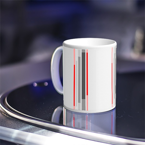 Late Club Joker Curtain Fabric Mug